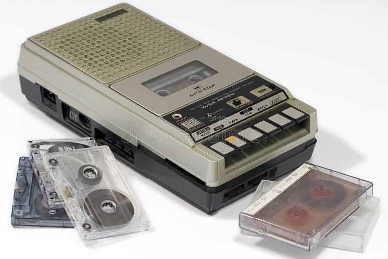tappning för band för kassettregistreringsapparat royaltyfria bilder