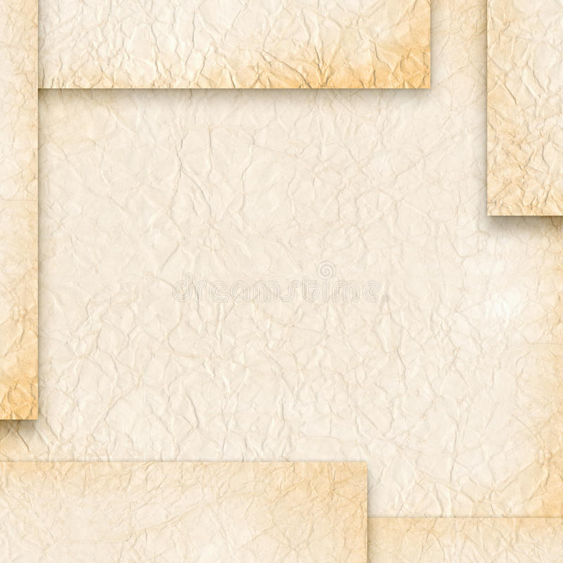 tappning för blankt papper vektor illustrationer