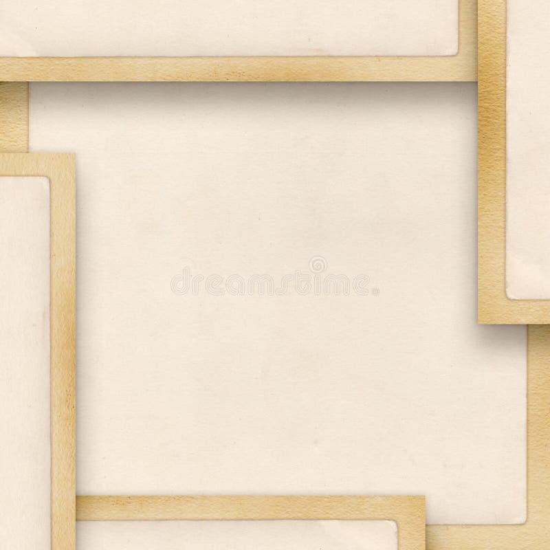 tappning för blankt papper royaltyfri illustrationer