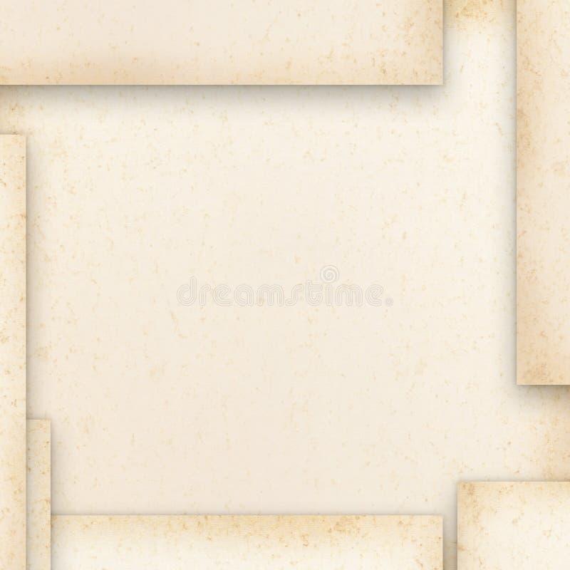 tappning för blankt papper stock illustrationer