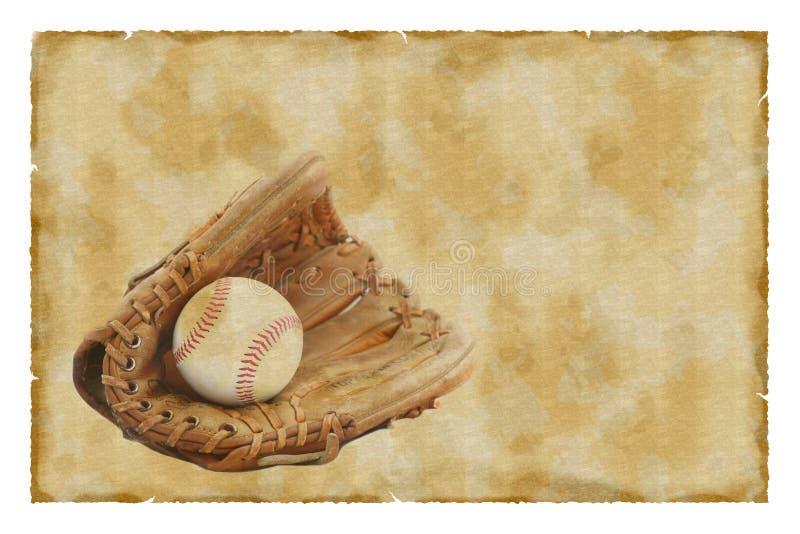 tappning för bollbaseballhandske stock illustrationer