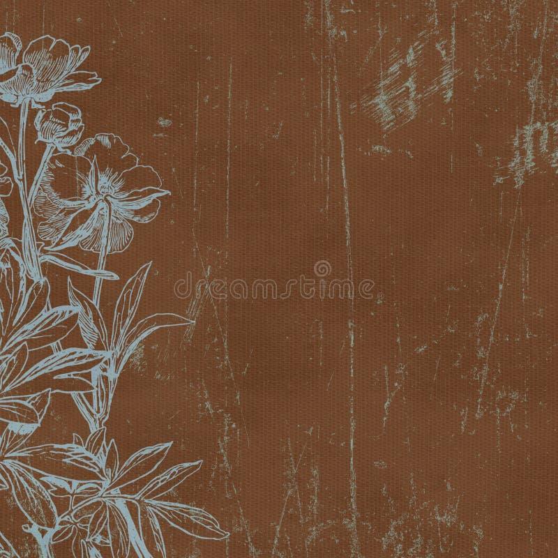 tappning för botaniska florals för bakgrund paper royaltyfri illustrationer