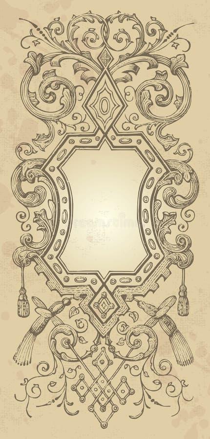 tappning för designramvektor vektor illustrationer