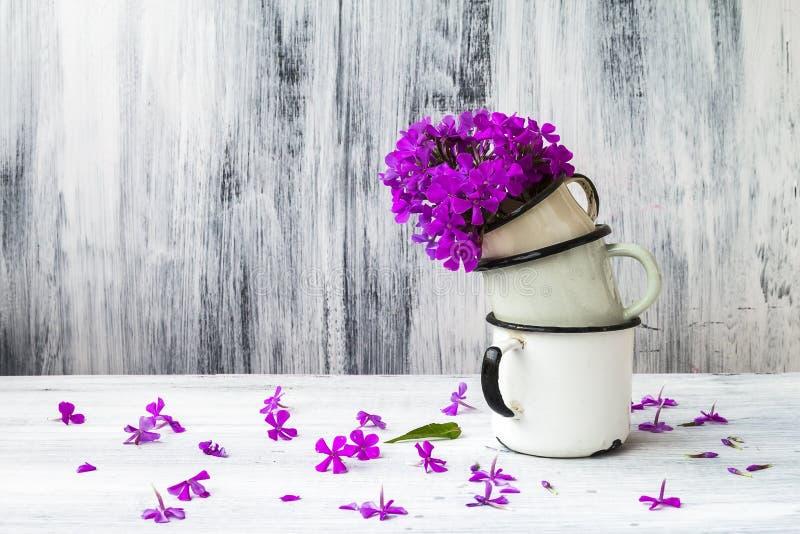 Tappning för gladiolus för konststillebenblomma trä fotografering för bildbyråer