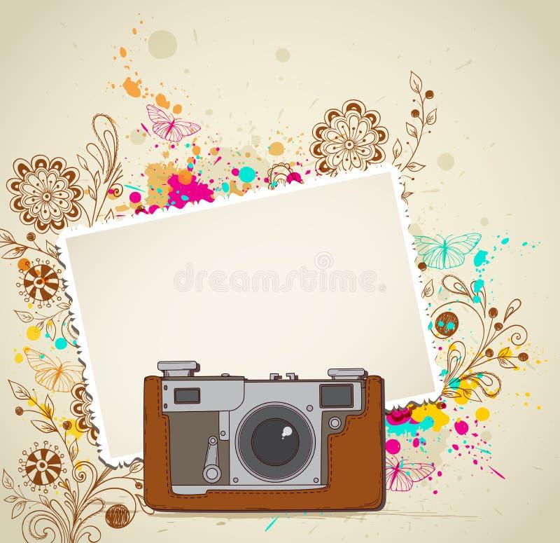 tappning för 35mm kameraslr vektor illustrationer