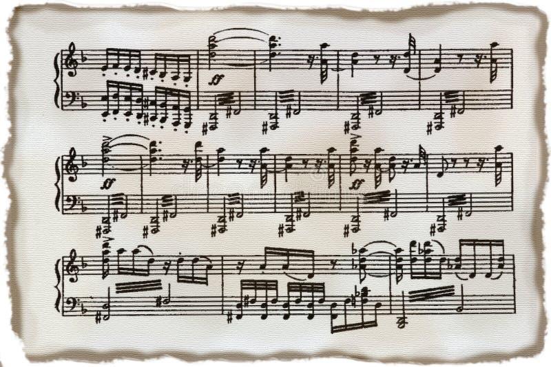 tappning för musikark royaltyfria bilder