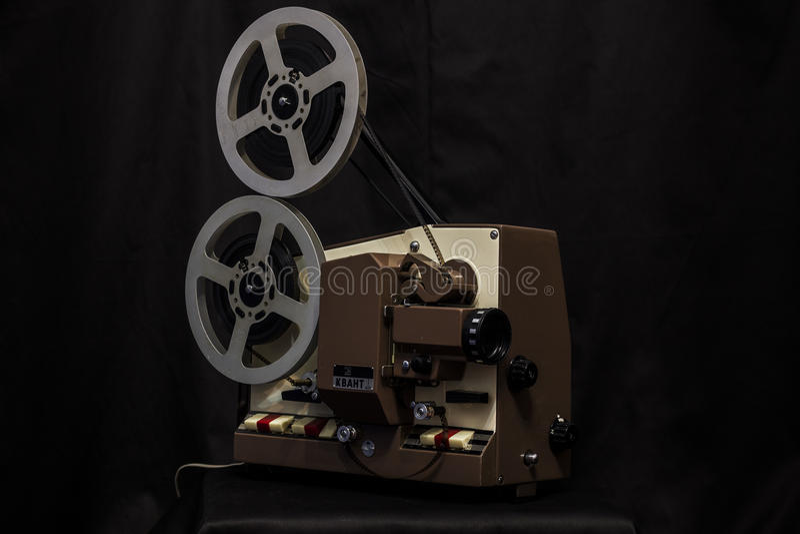 tappning för projektor för bana för clippingfilm bland annat royaltyfri bild