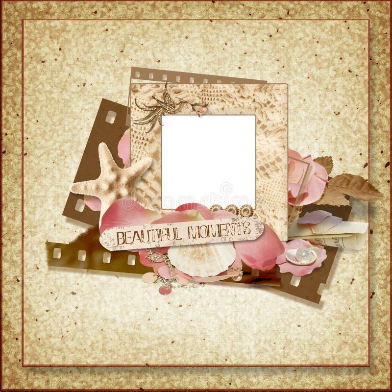 tappning för snäckskal för rampetals rose stock illustrationer