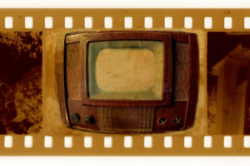 tappning för tv för foto för 35mm ramoldies royaltyfria foton