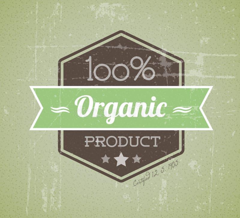 tappning för vektor för grungeetikett organisk retro vektor illustrationer