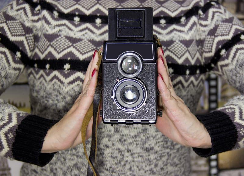tappning f?r 35mm kameraslr royaltyfri bild