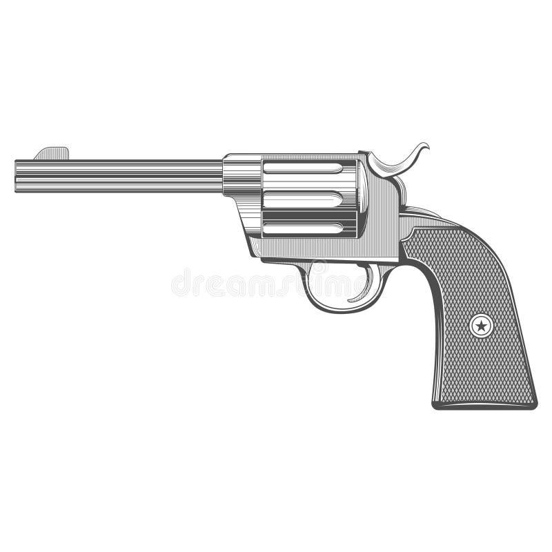 Tappning inristad pistol royaltyfria foton