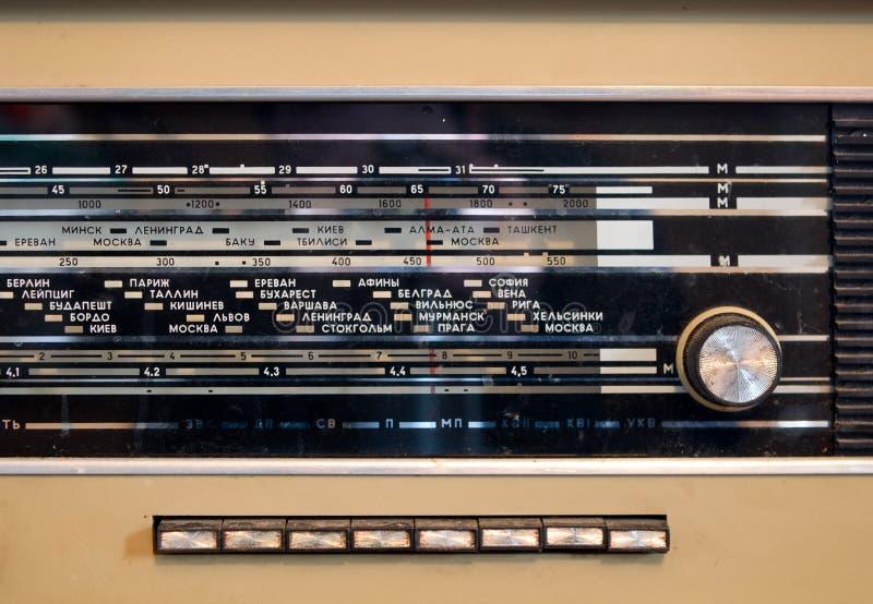 Tappning radiosände arkivbilder