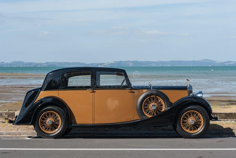 Tappning Rolls Royce royaltyfri foto