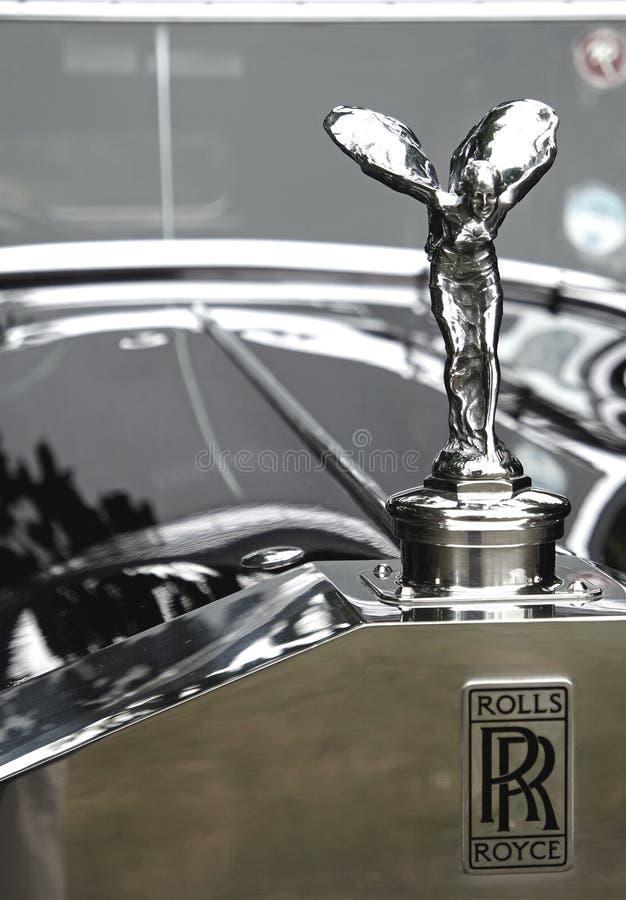 Tappning Rolls Royce Mascot arkivfoton