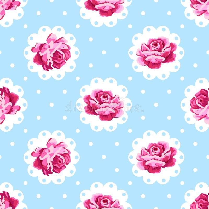 Tappning Rose Pattern vektor illustrationer