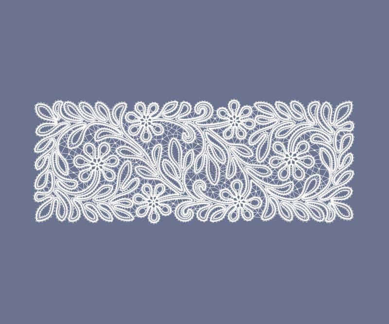 Tappning snör åt doilyen royaltyfri illustrationer