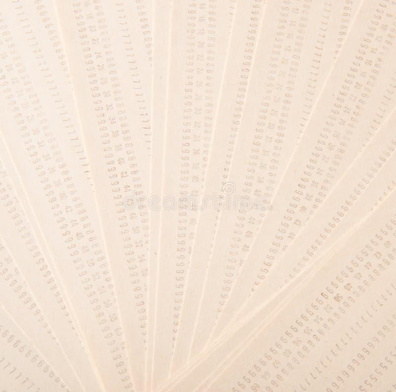 Tappning stansat kort royaltyfri fotografi