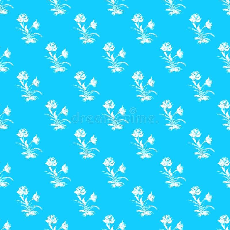 Tappning steg den sömlösa översiktsvektorn, den stora designen för några avsikter seamless tappning f?r blom- modell Moderiktig l stock illustrationer