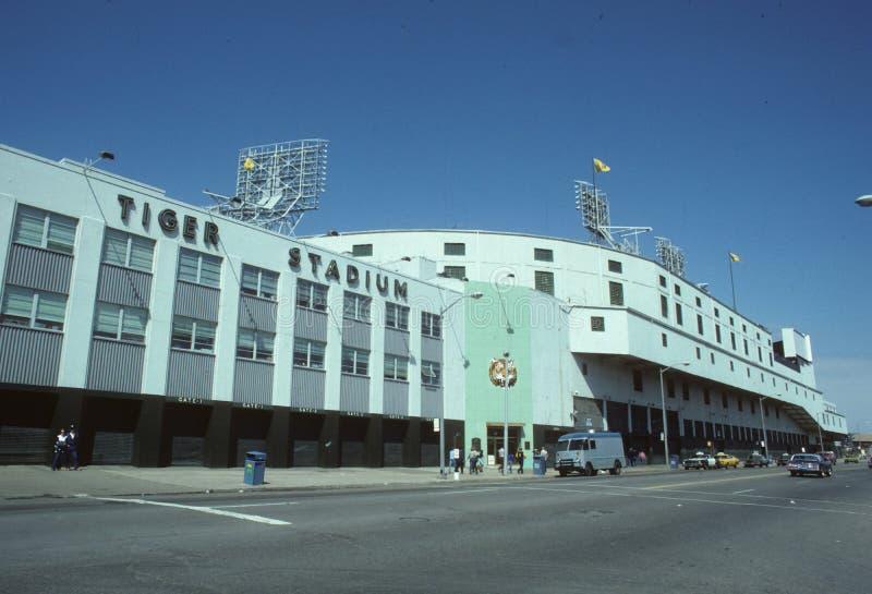 Tappning Tiger Stadium royaltyfria bilder