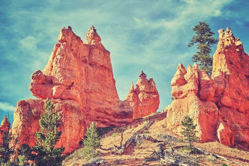 Tappning tonat löst landskap, USA fotografering för bildbyråer