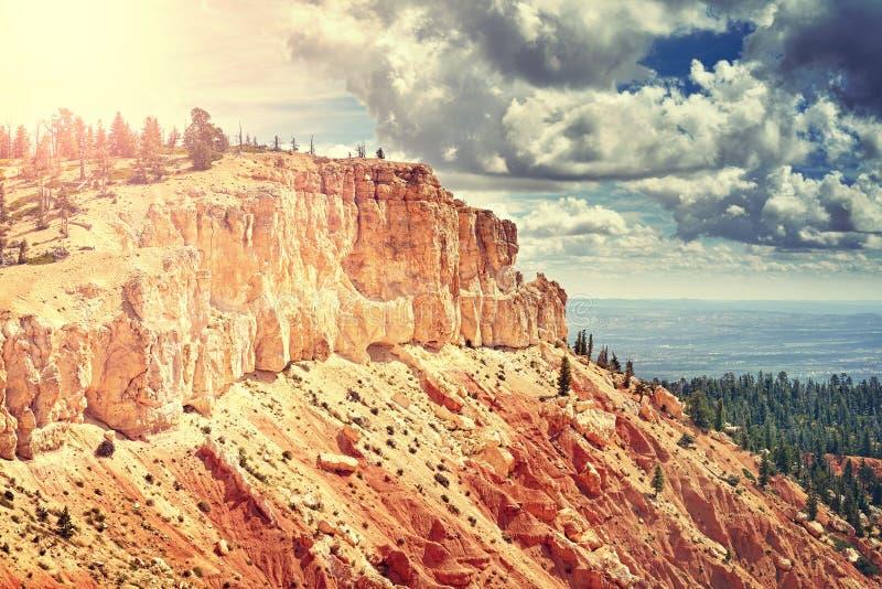 Tappning tonat löst landskap, USA royaltyfria bilder