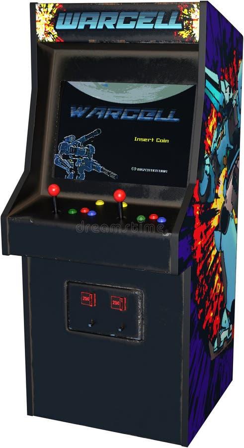 Tappning videopd Arcade Game Isolated som är retro vektor illustrationer