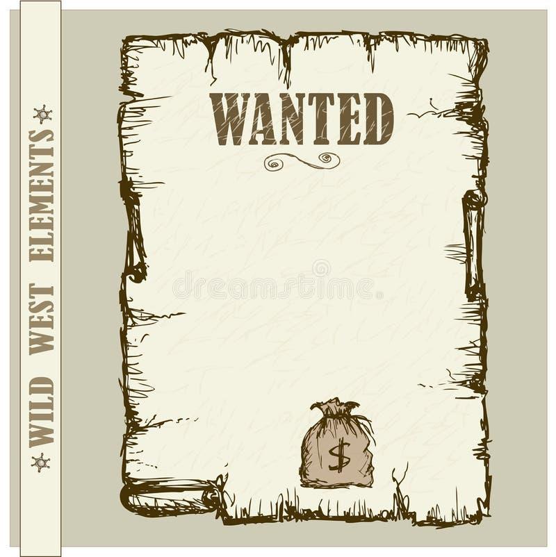 Tappningaffisch i vilda västernstil stock illustrationer