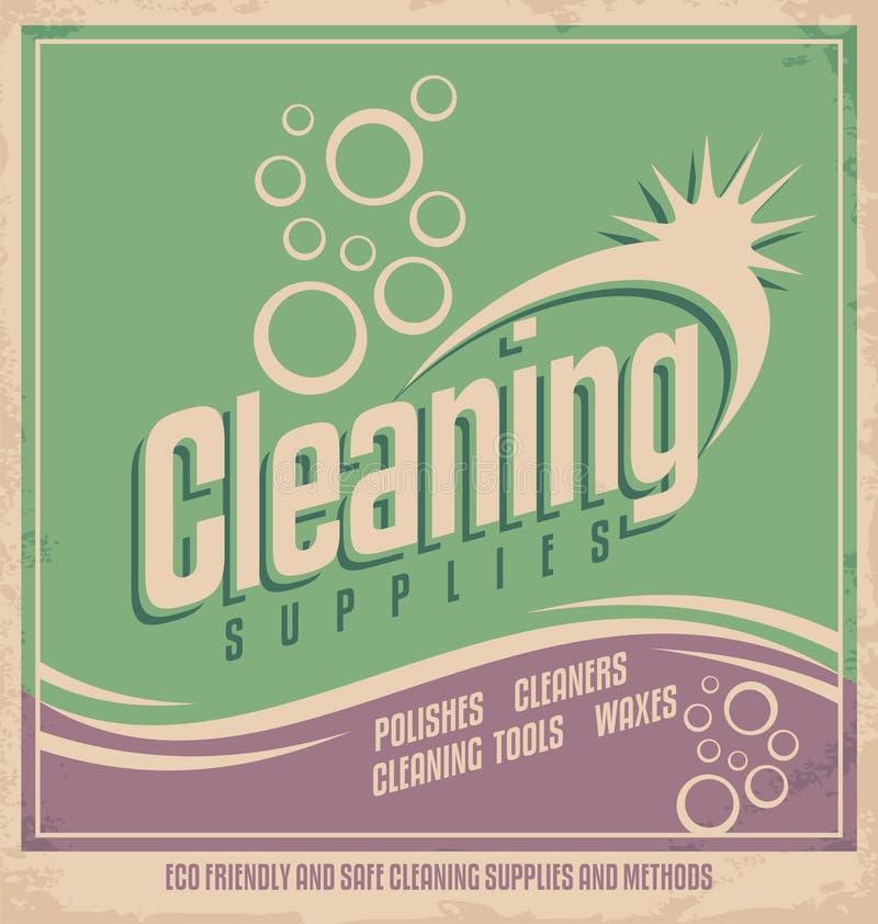 Tappningaffischdesign för rengörande service royaltyfri illustrationer