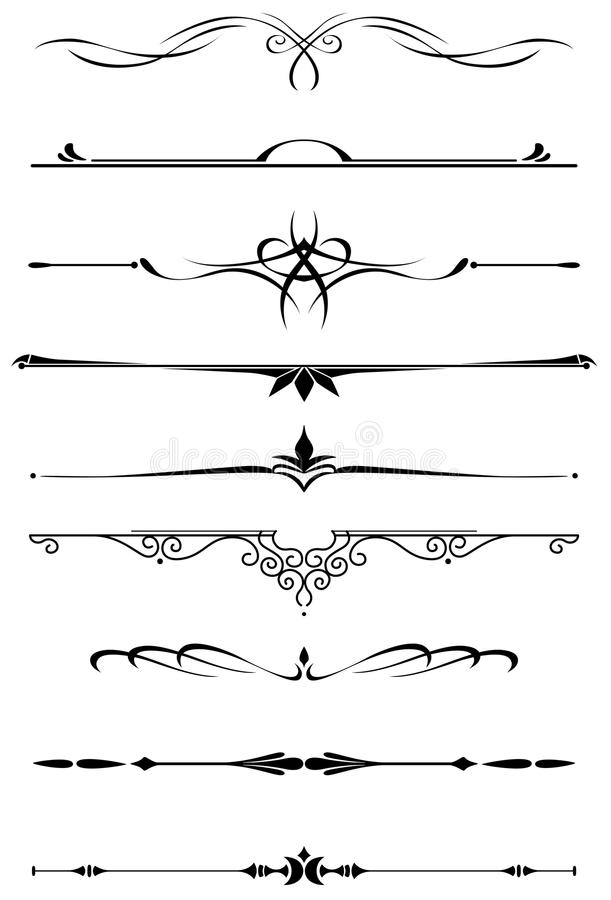 Tappningavdelare och gränser royaltyfri illustrationer