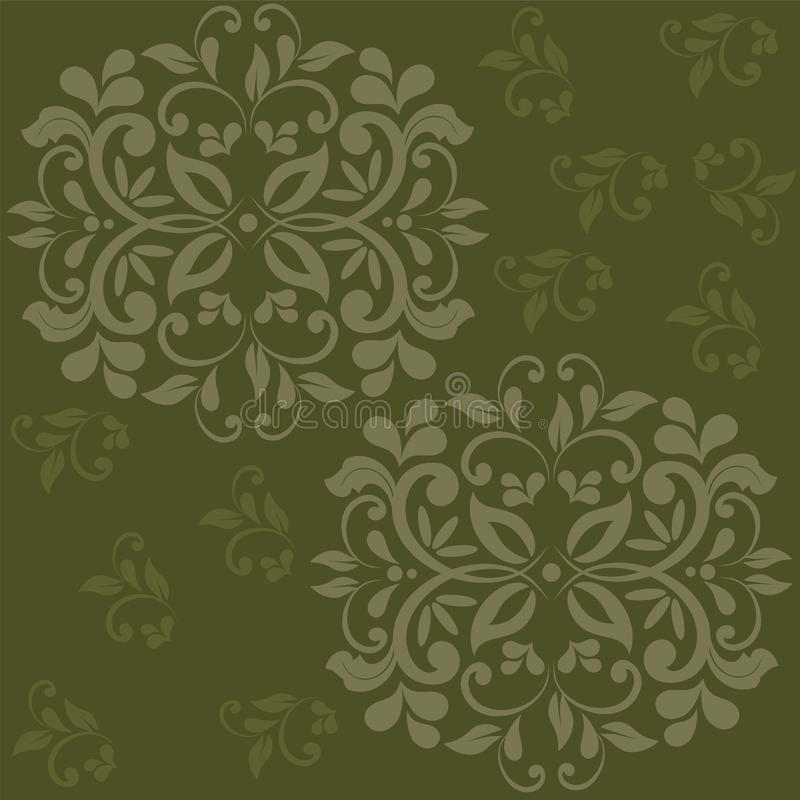 Tappningbackguound för blom- prydnad stock illustrationer
