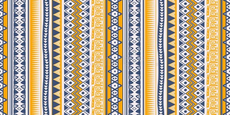 Tappningbakgrund av sömlösa bandsymboler för den stam- etniska modellen smyckar design royaltyfri illustrationer