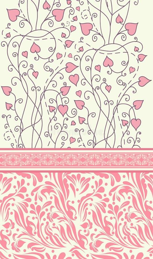 Tappningbakgrund för inbjudankortvektor royaltyfri illustrationer