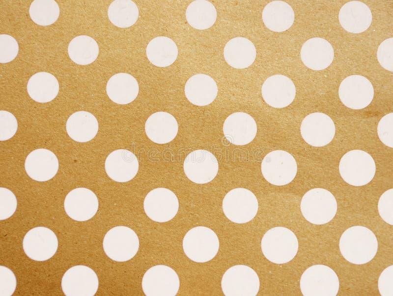 Tappningbakgrund från grungepapper, prickar royaltyfri fotografi