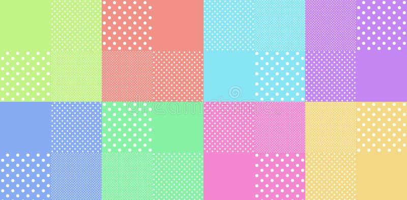Tappningbakgrund från polkaprick stock illustrationer