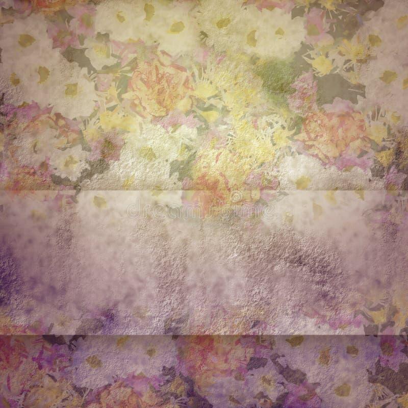 Tappningbakgrund med blommor arkivfoton