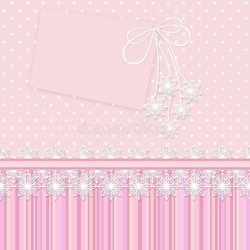 Tappningbakgrund med blommor för lyckönskan och inbjudningar och albumsidor stock illustrationer