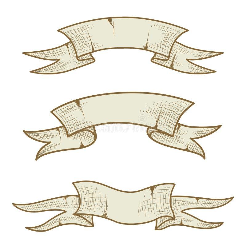Tappningband som isoleras på vit bakgrund royaltyfri illustrationer
