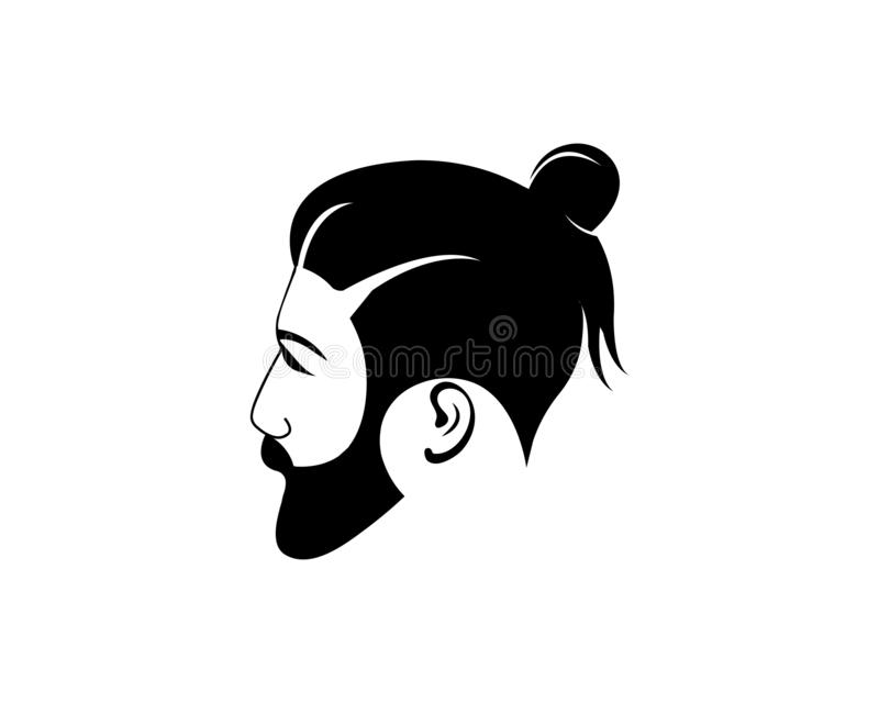 tappningbarberaren shoppar logovektorn vektor illustrationer