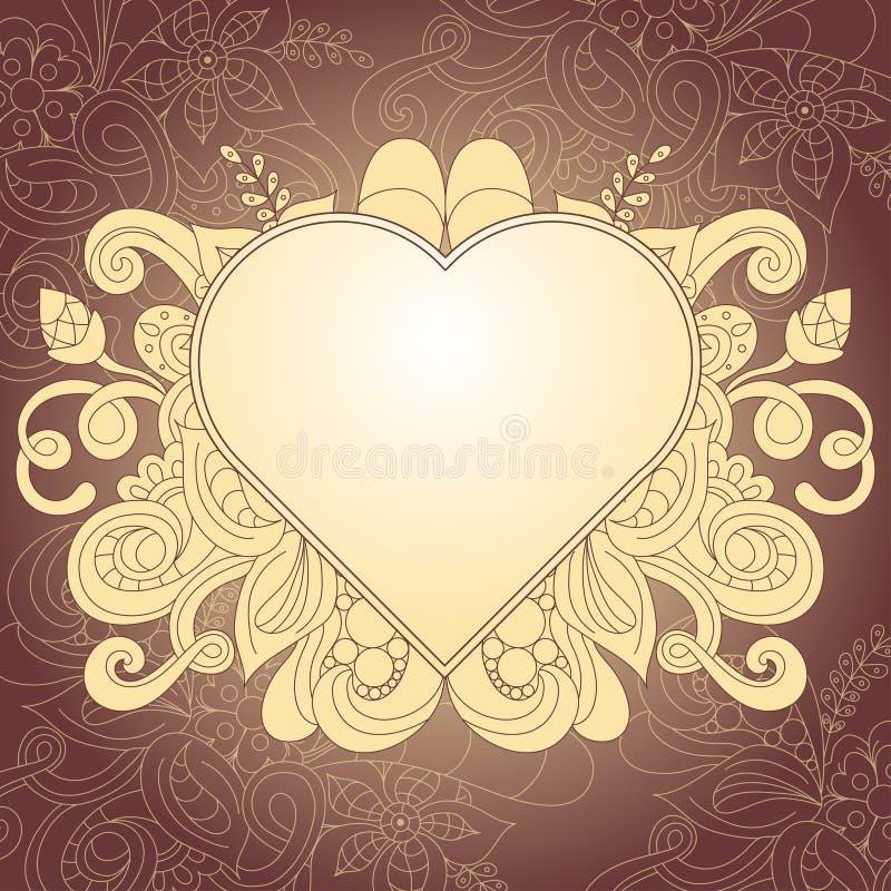 Tappningbeståndsdelar för att gifta sig design Hälsningkort, vektorillustration vektor illustrationer