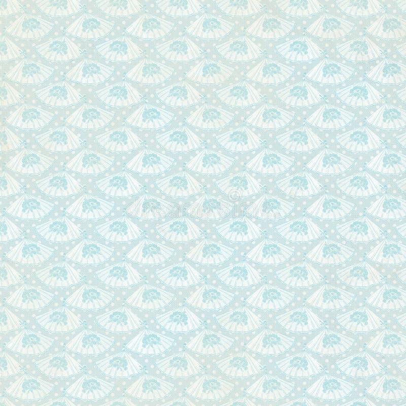 Tappningblått fläktar bakgrundsrepetitionwallpaperen arkivbild