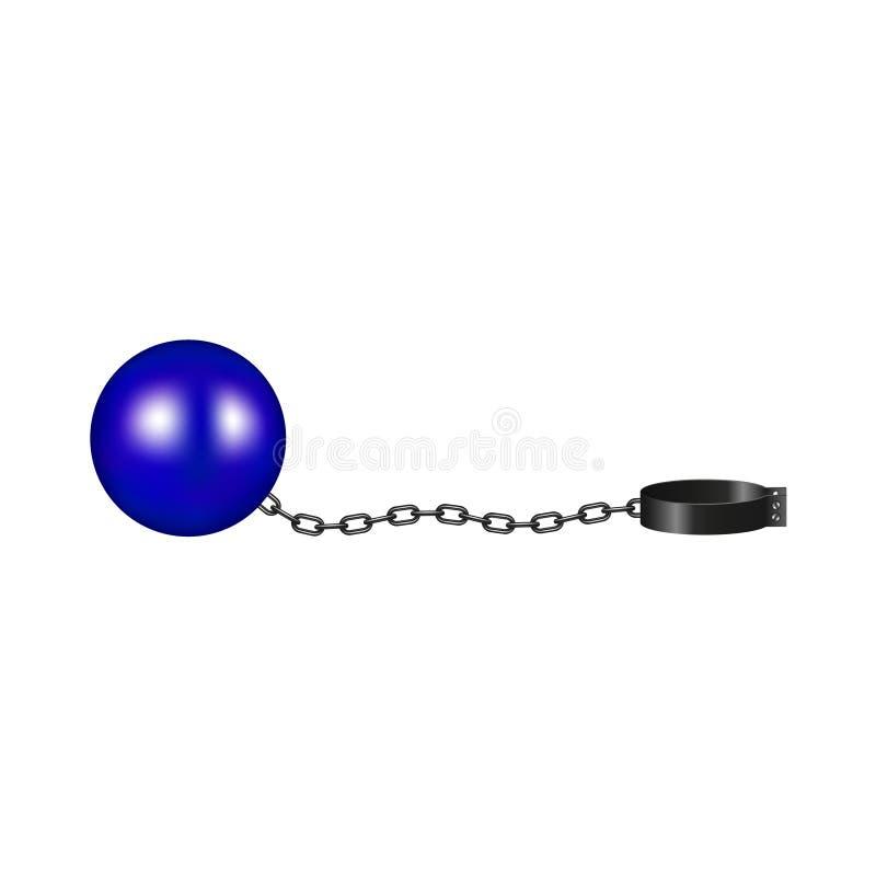 Tappningboja i blått- och svartdesign stock illustrationer