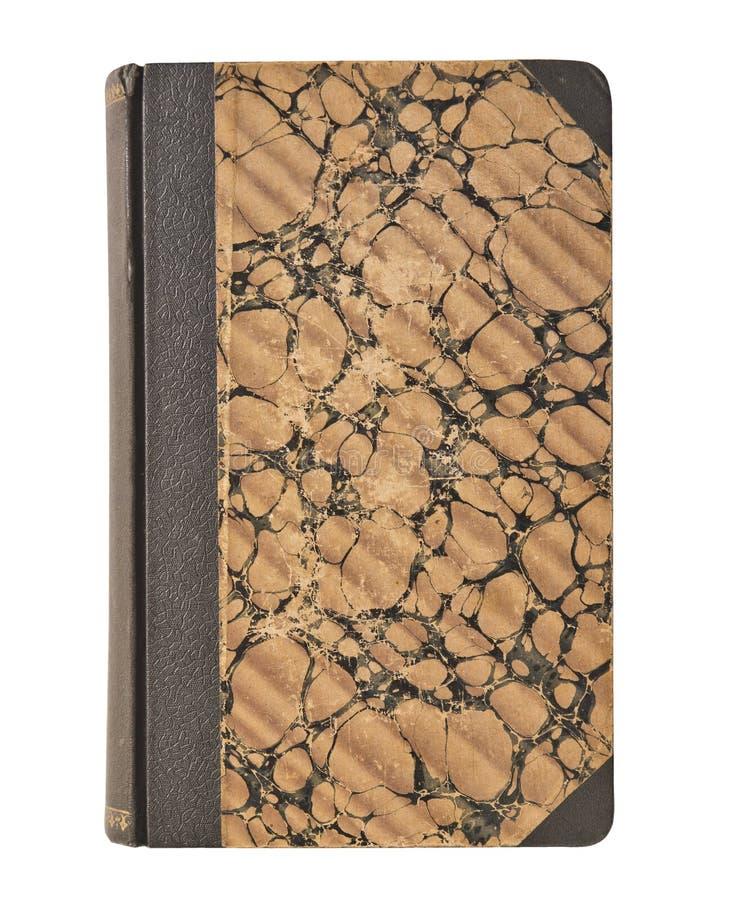 Tappningbokomslag för gammal bok som isoleras på vit bakgrund royaltyfria bilder