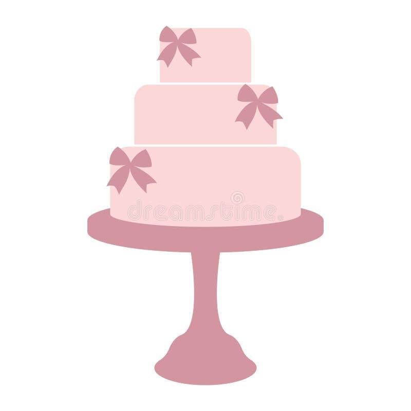Tappningbröllopstårta stock illustrationer