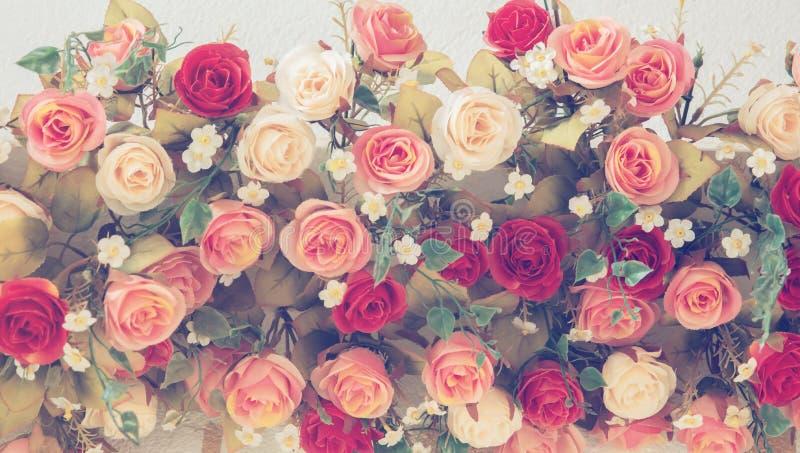 Tappningbukett av rosor för att gifta sig arkivfoto