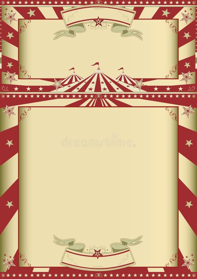 Tappningcirkusshow vektor illustrationer