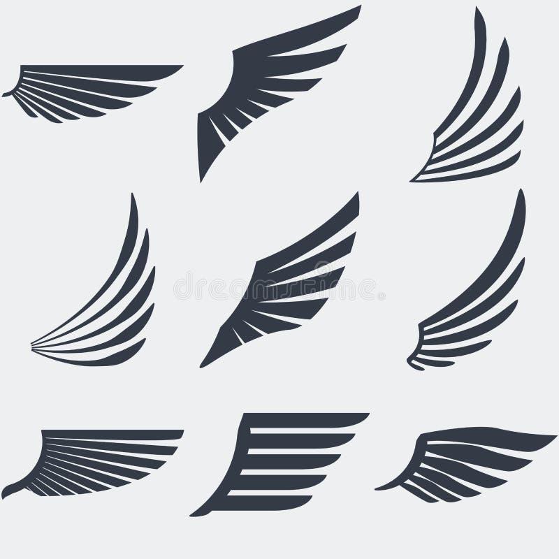 Tappningemblemuppsättning vektor illustrationer