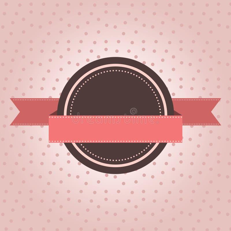 Tappningetiketten med polka pricker stock illustrationer