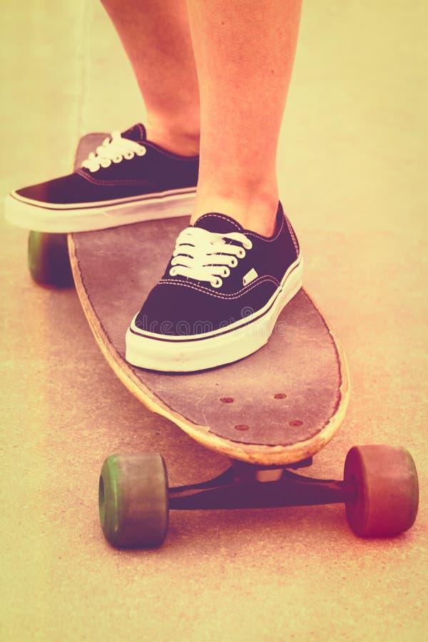Tappningfilterskateboard arkivbild