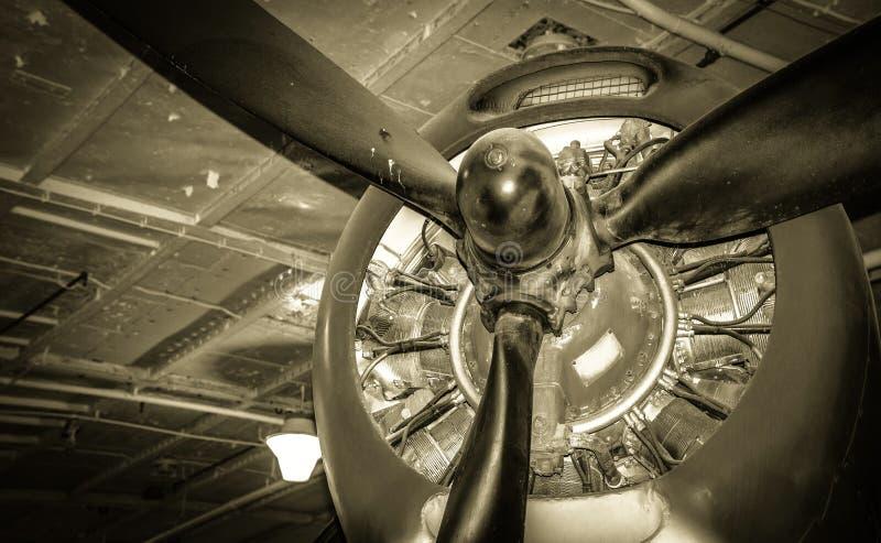 Tappningflygplan arkivbild